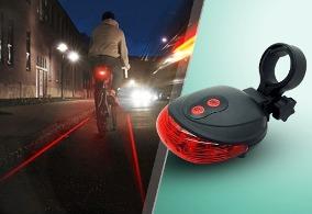 Luz De Bicicleta Led Con Láser Demarcador